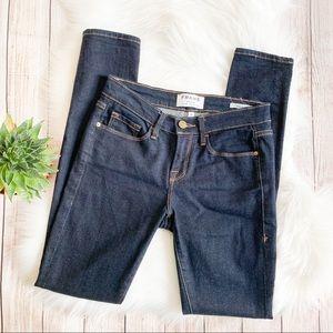 Frame Denim Dark Wash Skinny Jeans